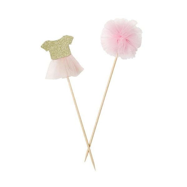 Buy Pink and gold Cake Toppers
