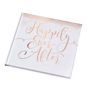 Buy Rose Gold Foiled Happily Ever After Guest Book