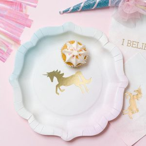 Buy Unicorns Pastel Paper Plates