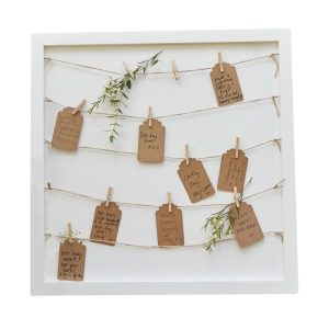 Buy Wooden Frame Alternative Guest Book
