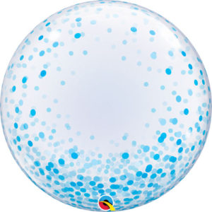 24 Inch Blue Confetti Dots Deco Bubble