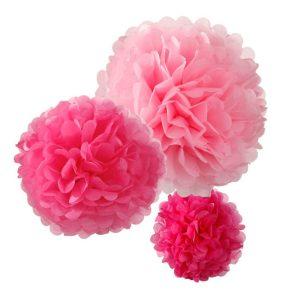 Decadent Decs Pom Poms Pink Mix