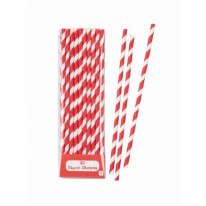 Mix & Match Red Straws