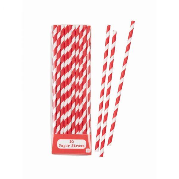 Mix & Match Red Straws