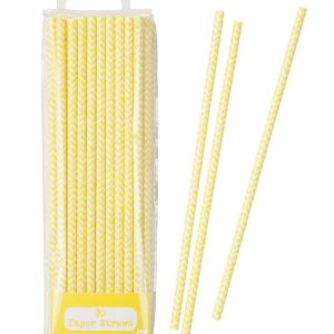 Mix & Match Yellow Chevron Straws