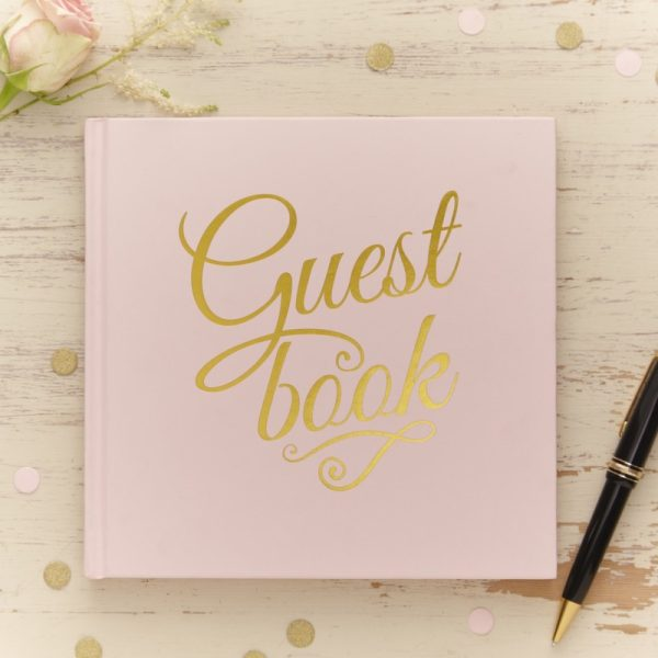 Pastel Gold Foiled Guest Book