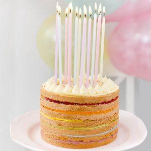 Pastel colour Party Candles