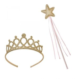 Pink Gold Wand & Tiara Set