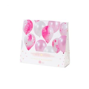 Pink Marble Effect Balloons