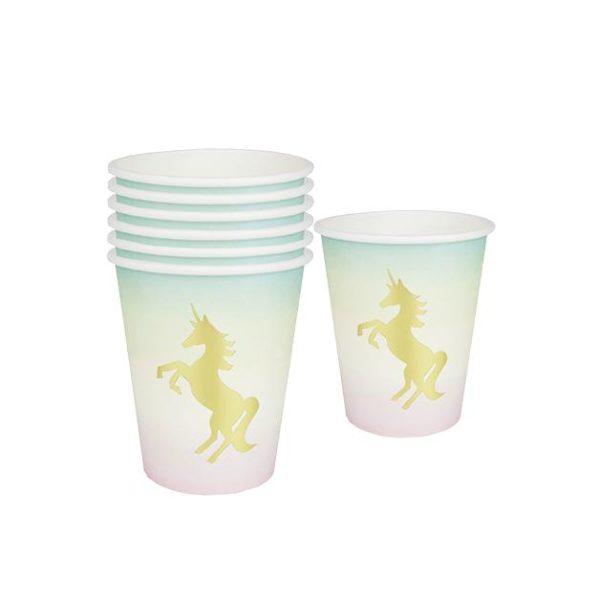 Unicorns Paper Cups