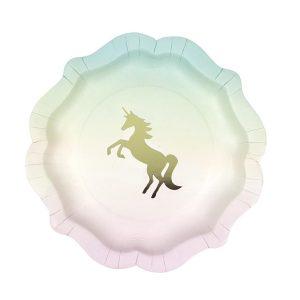 Unicorns Pastel Paper Plates