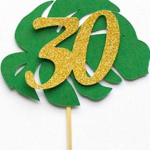 Tropical Leaf 30th birthday party