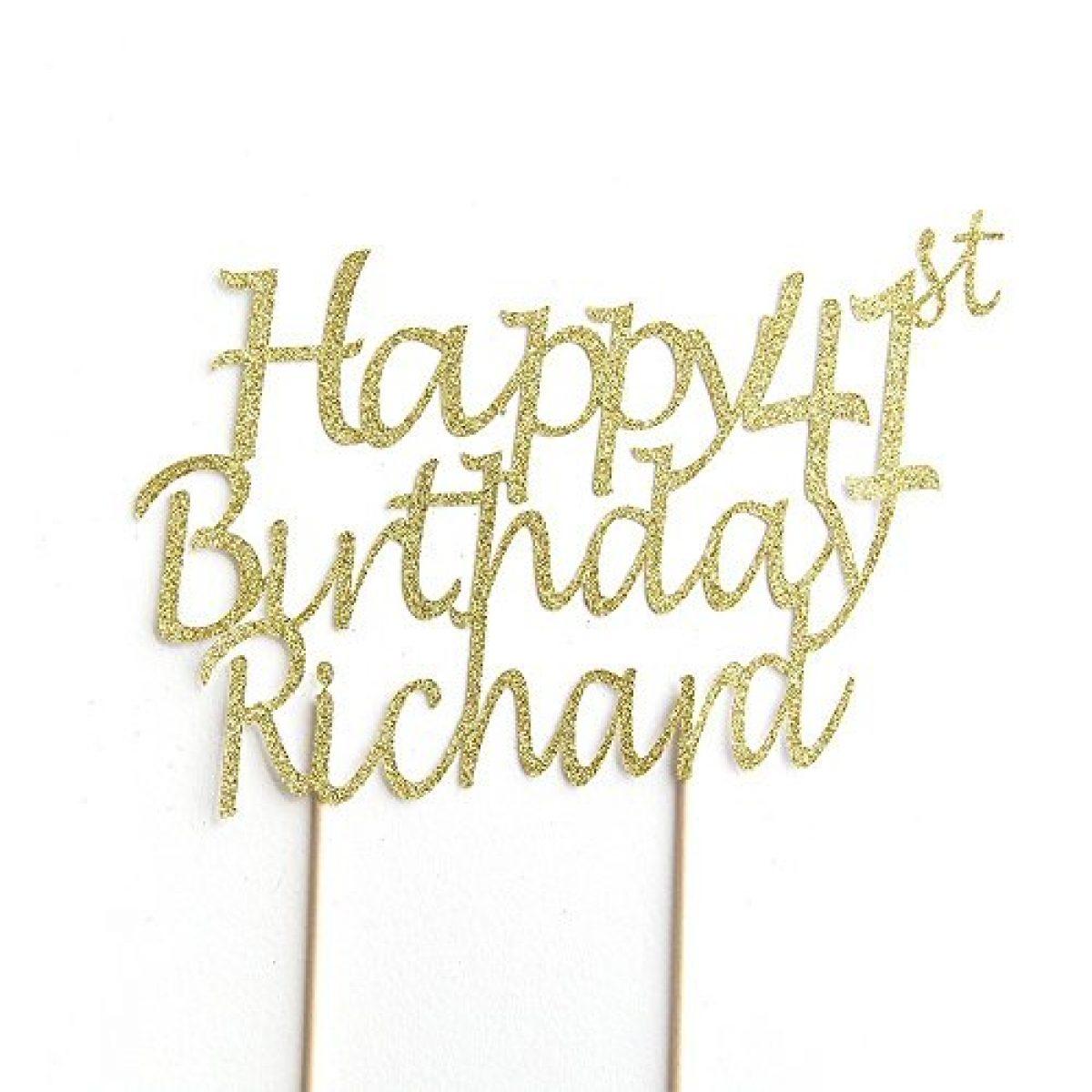 Enjoyable Happy Birthday Cake Topper Personalised Name And Age Personalised Birthday Cards Petedlily Jamesorg