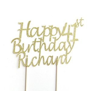 happy birthday cake topper personalised name and age