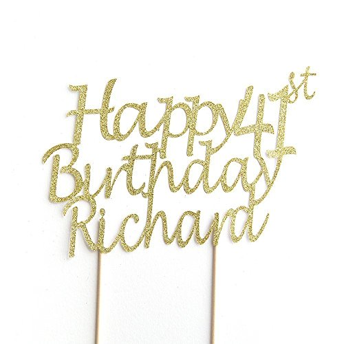 Pleasant Happy Birthday Cake Topper Personalised Name And Age Funny Birthday Cards Online Alyptdamsfinfo