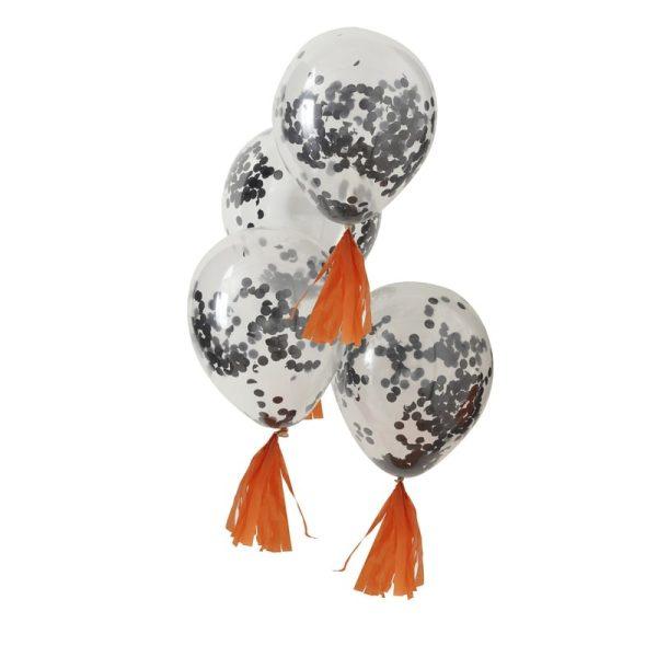 Buy Black Confetti Balloons Pumpkin Party