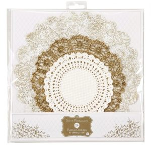 Buy Party Porcelain Gold Doilies