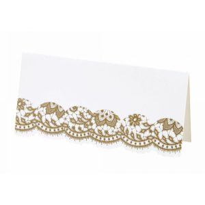 Buy Party Porcelain Gold Placecards for weddings