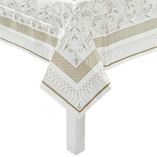 Buy Party Porcelain Gold Table Cover