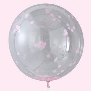 Buy Pink confetti Orb Balloons Large