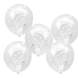 Buy BuyWhite Confetti Balloons