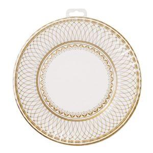 Party Porcelain Gold Large Plates