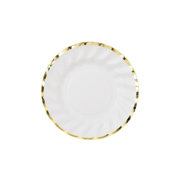 Party Porcelain Gold Paper Plates Small