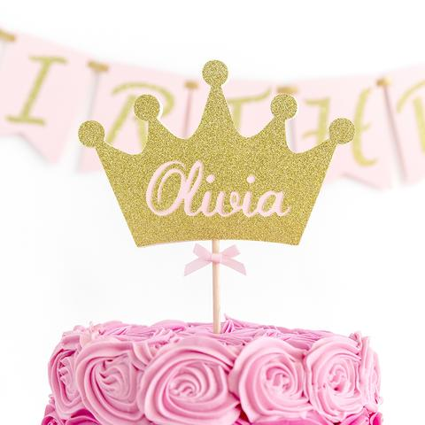 Crown Cake Topper Personalised