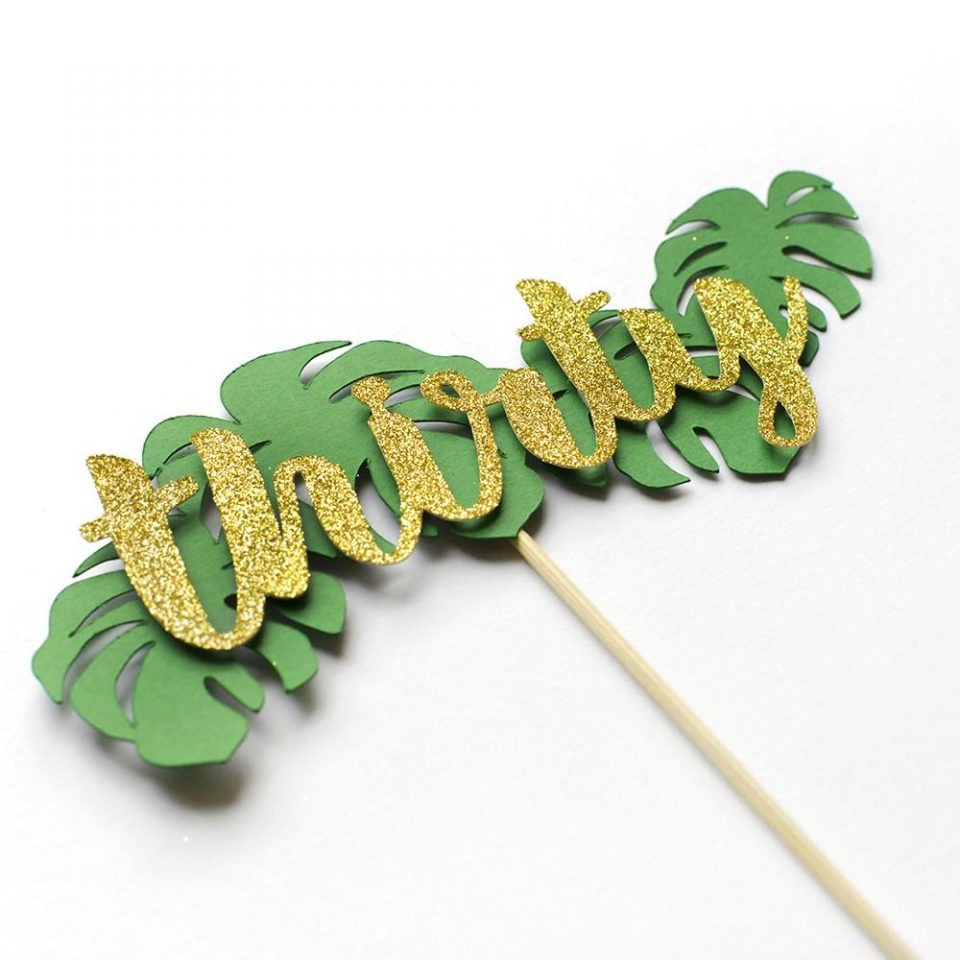 Tropical Cake Topper Personalised with Name and Age ...