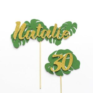 Tropical Cake Topper Personalised with name and age