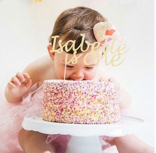 Marvelous First Birthday Cake Topper Personalised With Name And Age Personalised Birthday Cards Paralily Jamesorg