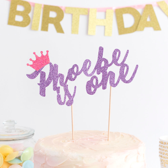 Stupendous First Birthday Cake Topper Personalised With Decoration Personalised Birthday Cards Veneteletsinfo