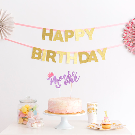 Admirable First Birthday Cake Topper Personalised With Decoration Funny Birthday Cards Online Elaedamsfinfo