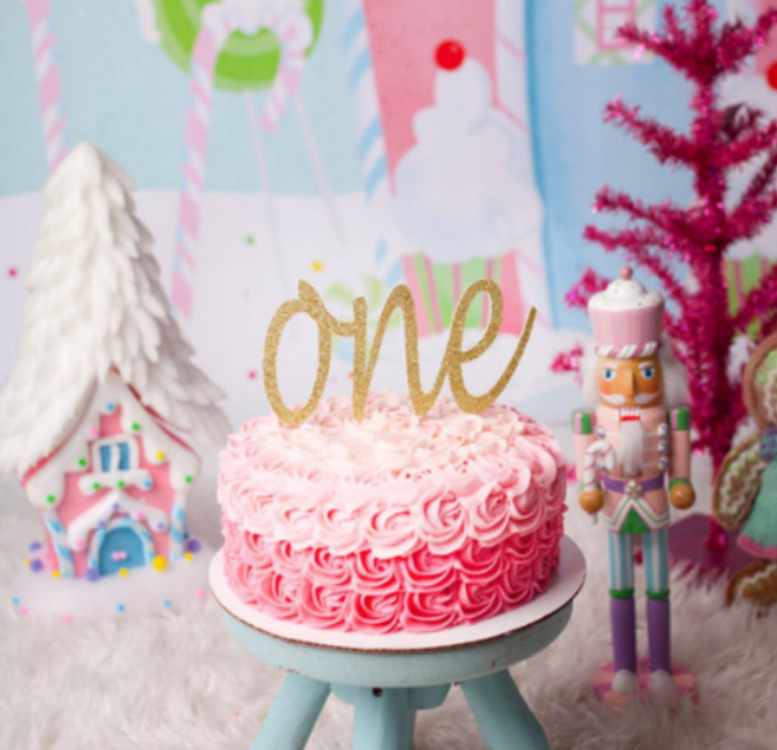 One Cake Topper First Birthday Party Decorations