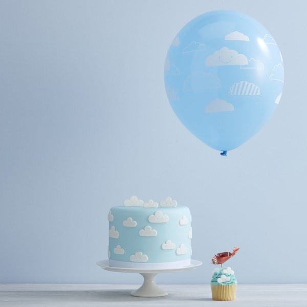 Blue Cloud Party Balloons