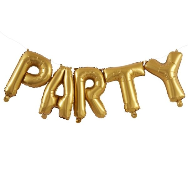 Buy Gold Party Balloons Bunting