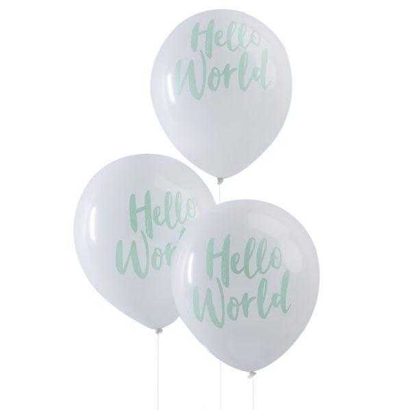 Buy Mint Hello World Balloons