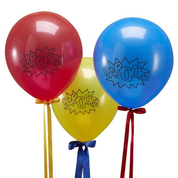 Buy Multi coloured Balloons Comic Superhero