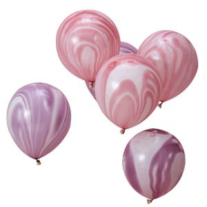 Buy Pink & Purple Marble Balloons Make a Wish