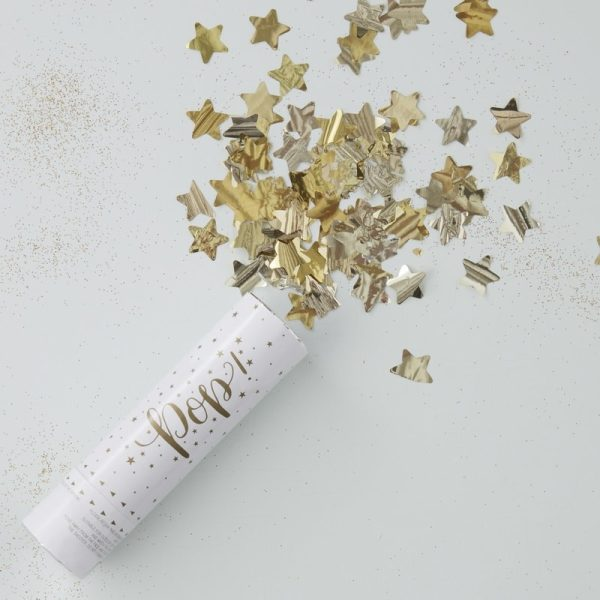 Gold Compressed Air Confetti Cannon Shooter