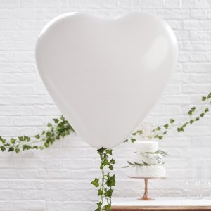 Large White Heart Balloons