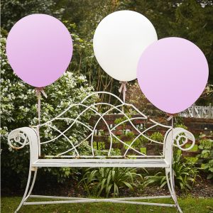 "White & Pink 36"" Feature Balloons"