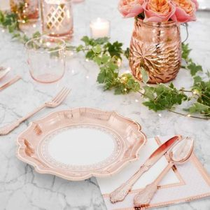 Porcelain Rose Gold Cutlery