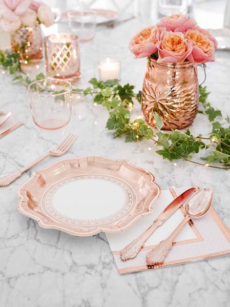 Porcelain Rose Gold Cutlery