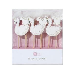 We Love Swans Cake Toppers