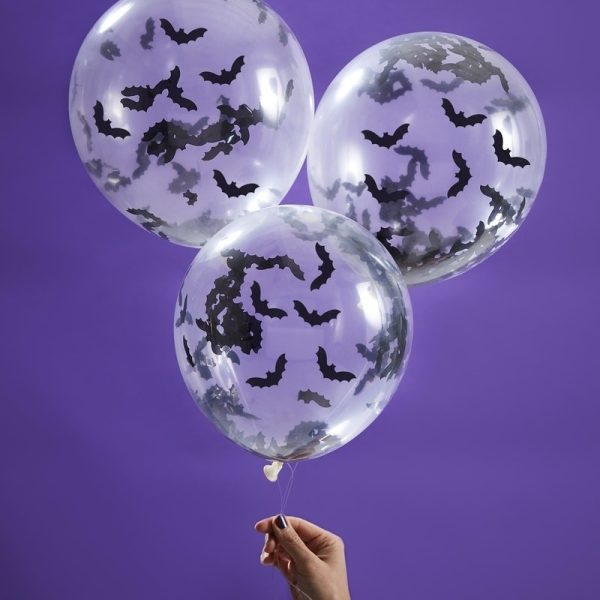 Bat Shaped Confetti Balloons