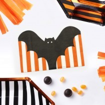 Bat Shaped Halloween Paper Napkins