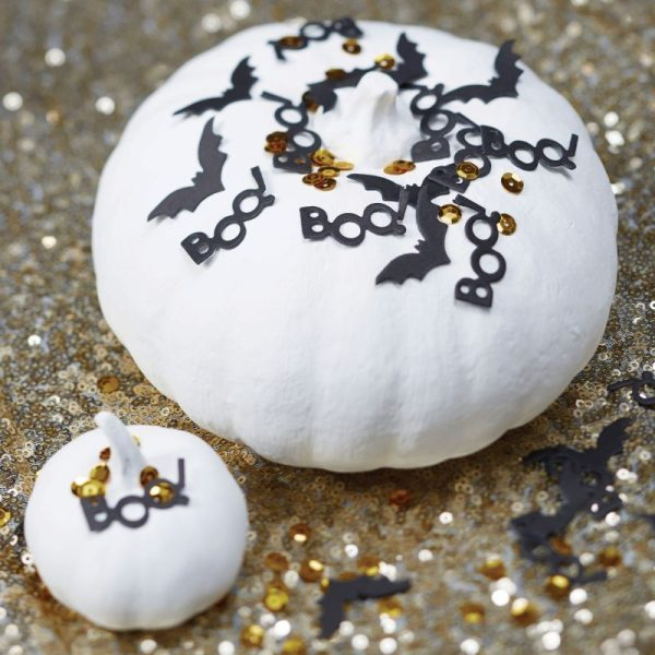 Buy Black & Gold Halloween Table Confetti