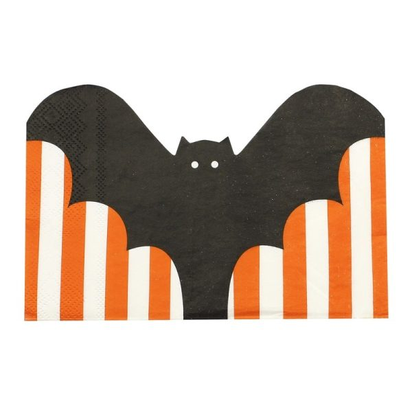 Buy Bat Shaped Halloween Paper Napkins
