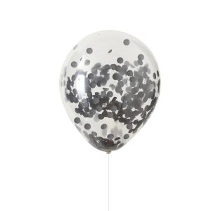 Buy Black Confetti Balloons Halloween